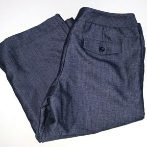 The Limited Cassidy Fit Crop Pants Blue Size 8